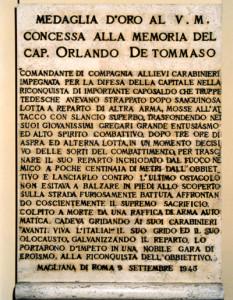 DE TOMMASO ORLANDO CASERMA LAPIDE 1 400