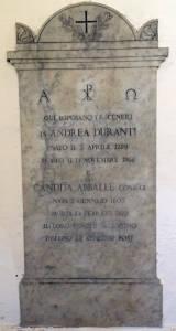 DURANTI ABBALLE Coniugi 1866 1873