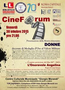 BLL 30 ottobre 2015 Cineforum Morandi Patrocinio