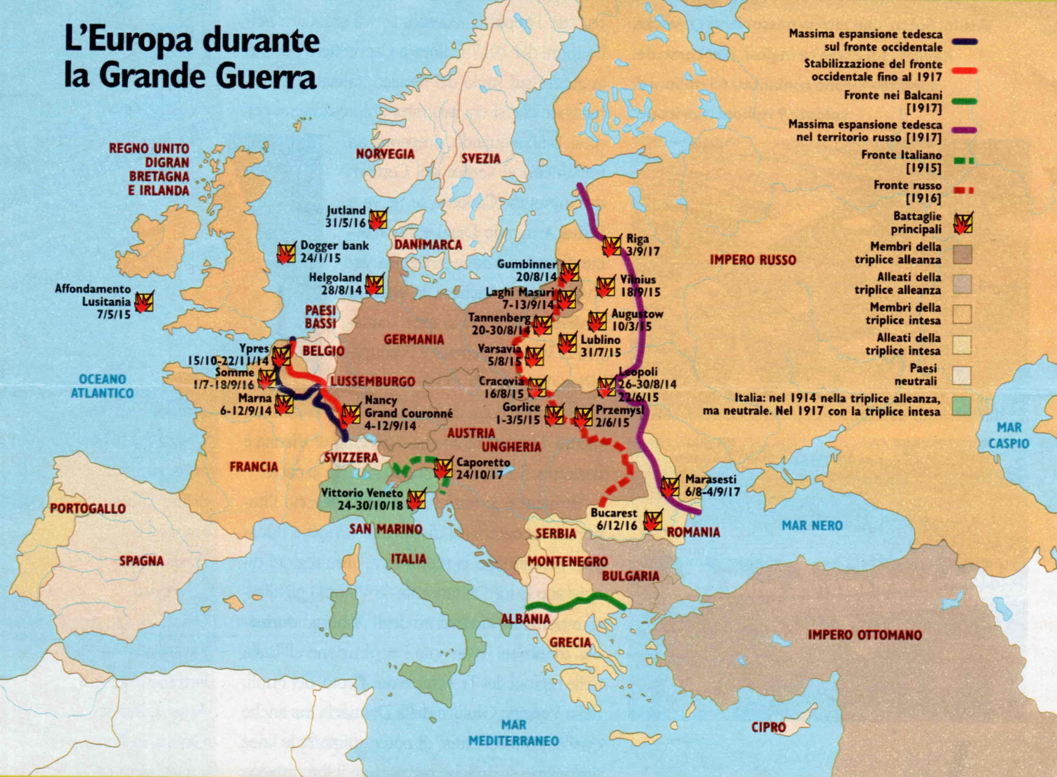 Europa-durante-la-Grande-Guerra